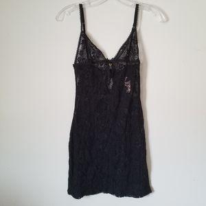 VS Very Sexy sheer black floral gown, XS